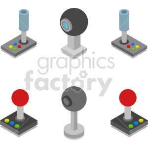 isometric web cam joysticks vector icon clipart 1 clipart. Commercial use image # 414526