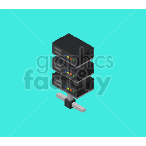 isometric server vector icon clipart 7 clipart. Commercial use image # 414554