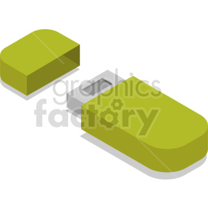 isometric usb vector icon clipart clipart. Commercial use image # 414555