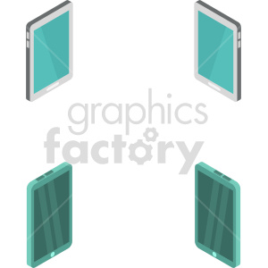 isometric smart device vector icon clipart 2 clipart. Commercial use image # 414559