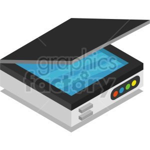 isometric scanner vector icon clipart clipart. Commercial use image # 414560