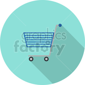isometric shopping cart vector icon clipart 2