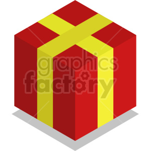 isometric presents vector icon clipart 4