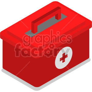 isometric medical bag vector icon clipart 3 clipart. Commercial use image # 414621