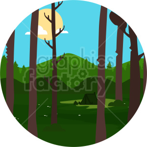 camp setup forest clipart. Commercial use image # 414717