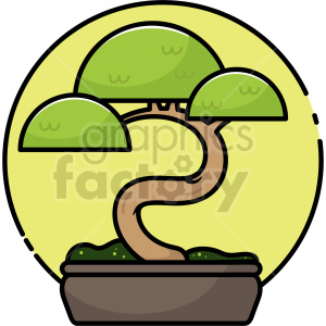 bonsai vector clipart icon clipart. Commercial use image # 414732