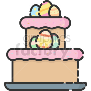 easter cake vector clipart icon clipart. Commercial use image # 414743