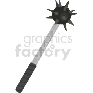 spiked ball club weapon vector clipart