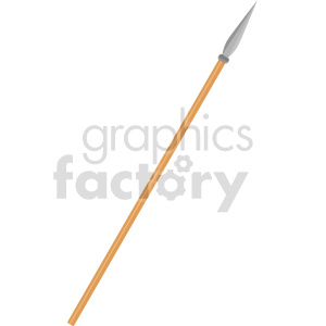 spear weapon vector clipart clipart. Commercial use image # 414813