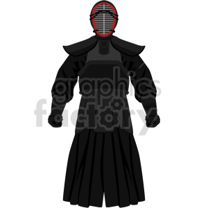 samurai warrior outfit vector graphic clipart. Commercial use image # 414837