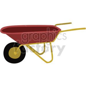 wheelbarrow vector clipart clipart. Commercial use image # 414844