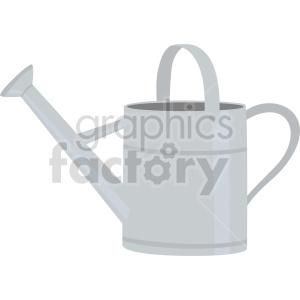 clipart - metal watering bucket vector clipart.