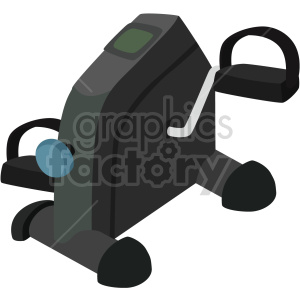 mini bicycle exercise machine vector graphic clipart. Commercial use image # 414903