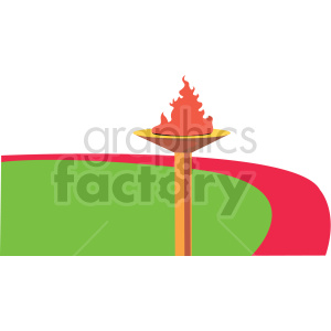 Olympic torch vector design clipart. Commercial use image # 414927