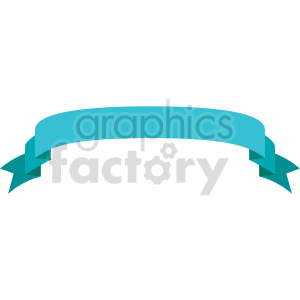 blue curved down ribbon design vector clipart clipart. Commercial use image # 414986