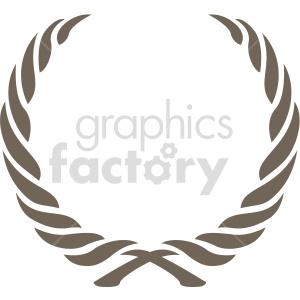 clipart - swivel laurel wreath design vector clipart.