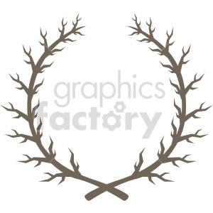 clipart - branch laurel wreath design vector clipart.