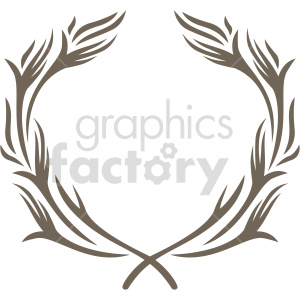 clipart - tribal laurel wreath design vector clipart.