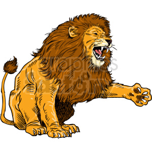 lion clipart clipart. Commercial use image # 415047