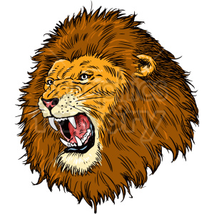 lion head clipart clipart. Commercial use image # 415056