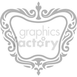 wide frame design vector clipart clipart. Commercial use image # 415061