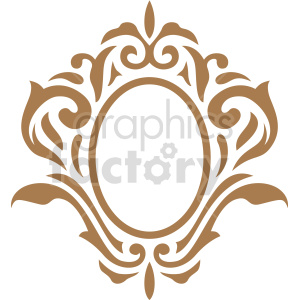 oval frame design vector clipart clipart. Commercial use image # 415075