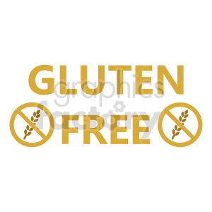gluten free design vector clipart clipart. Commercial use image # 415174