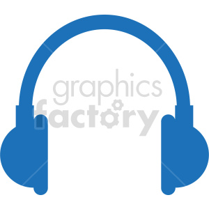 blue headphones clipart clipart. Commercial use image # 415236
