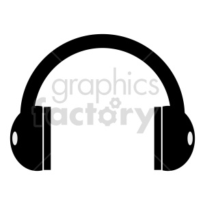 cartoon headphones vector clipart clipart. Commercial use image # 415246