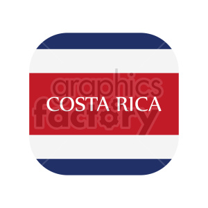 Flag of Costa Rica vector clipart 4 clipart. Commercial use image # 415295