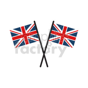 crossed Great Britain flags vector clipart 01 clipart. Commercial use image # 415317