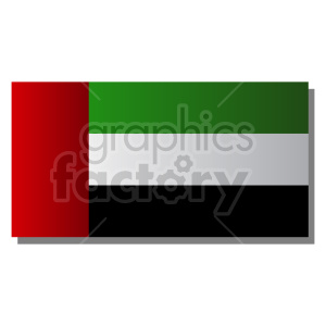 Flag of United Arab Emirates vector clipart 02 clipart. Commercial use image # 415324