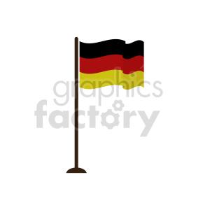clipart - German flag vector clipart icon 02.