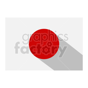 Japan flag vector clipart icon 02 clipart. Commercial use image # 415382