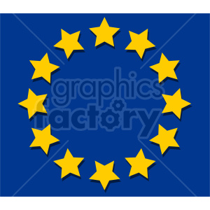 Flag of Europe vector clipart 01 clipart. Commercial use image # 415435