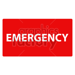 emergency sign vector clipart clipart. Commercial use image # 415450