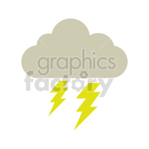 lightning cloud icon vector clipart clipart. Commercial use image # 415470