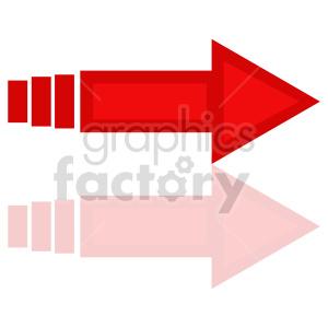 red arrow icon vector clipart