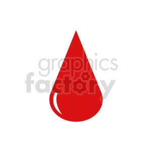 blood drop icon vector clipart
