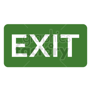 exit sign vector clipart clipart. Commercial use image # 415515