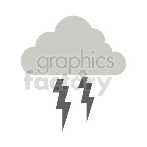 lightning storm vector clipart clipart. Commercial use image # 415538
