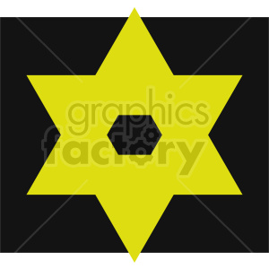 yellow cross of david vector graphic clipart. Commercial use image # 415550