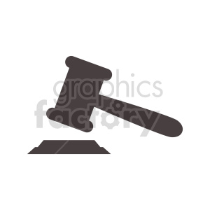 justice gavel vector clipart clipart. Commercial use image # 415609