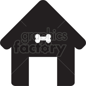 dog house symbol icon clipart. Commercial use image # 415642