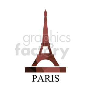 Eiffel Tower Paris France royalty free vector clipart. Commercial use image # 415647