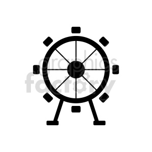 ferris wheel vector icon design clipart. Commercial use image # 415649