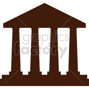 Government building symbol vector icon clipart. Commercial use image # 415685