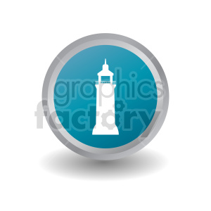 lighthouse button vector clipart. Commercial use image # 415713