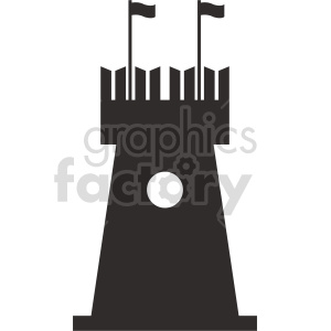 cartoon castle tower vector clipart clipart. Commercial use icon # 415714