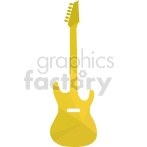 clipart - yellow guitar design.